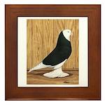 Black Bald West Framed Tile