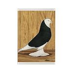 Black Bald West Rectangle Magnet (100 pack)