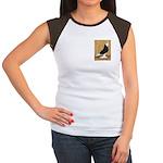 Black Bald West Women's Cap Sleeve T-Shirt