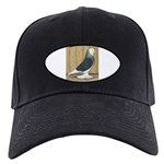 Silver Check Bald Black Cap