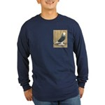 Silver Check Bald Long Sleeve Dark T-Shirt