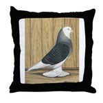 Silver Check Bald Throw Pillow