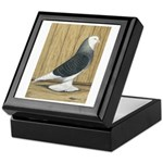 Silver Check Bald Keepsake Box