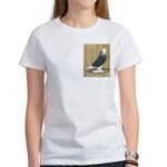 Silver Check Bald Women's T-Shirt