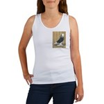 Silver Check Bald Women's Tank Top