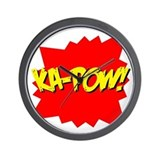 Ka-Pow! Wall Clock