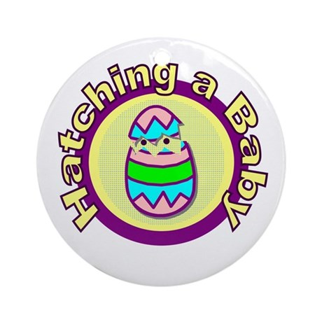 Hatching a Baby Ornament (Round)