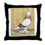 Red Bar Grizzle West Throw Pillow