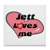 jett loves me  Tile Coaster