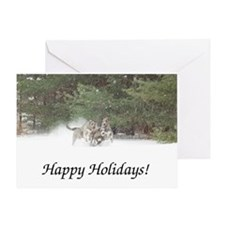 Holiday Irish Wolfhounds Greeting Cards