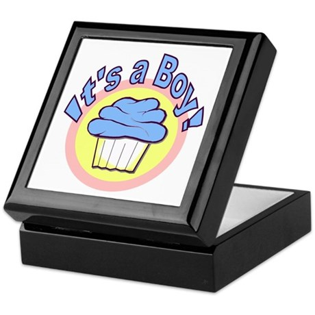 It's a Boy Cupcake Keepsake Box