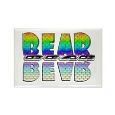 BEAR-RAINBOW/MIRROR/BRICK2 Rectangle Magnet