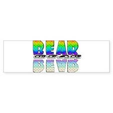 BEAR-RAINBOW/MIRROR/BRICK2 Bumper Bumper Sticker