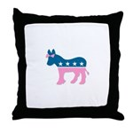 ::: Democratic Donkey Pink/Blue ::: Throw Pillow