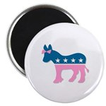 ::: Democratic Donkey Pink/Blue ::: Magnet