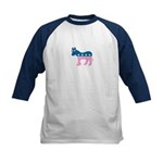 ::: Democratic Donkey Pink/Blue ::: Kids Baseball