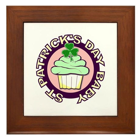 St. Patrick's Day Baby Framed Tile