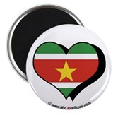 "I Love Suriname 2.25"" Magnet (100 pack)"
