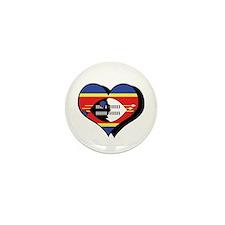 I Love Swaziland Mini Button (100 pack)