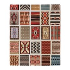 Art of Navajo Weaving Throw Blanket