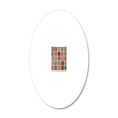 Art of Navajo Weaving 20x12 Oval Wall Decal