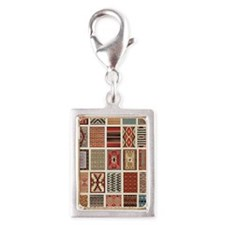 Art of Navajo Weaving Silver Portrait Charm