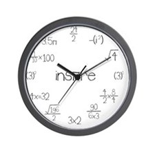 Large Wall Math Clock Wall Clock