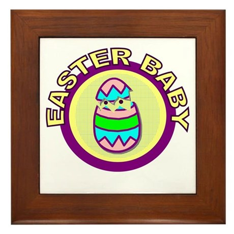 Easter Baby Framed Tile