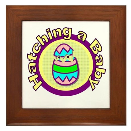 Hatching a Baby Framed Tile