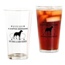 SCOTTISH DEERHOUND designs Drinking Glass