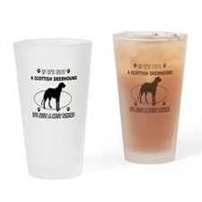 SCOTTISH DEERHOUND designs Drinking Glass