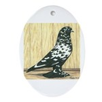 Black Mottle West Oval Ornament