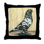 Black Mottle West Throw Pillow