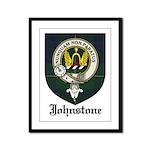 Johnstone Clan Crest Tartan Framed Panel Print