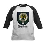 Johnstone Clan Crest Tartan Kids Baseball Jersey