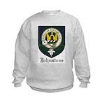 Johnstone Clan Crest Tartan Kids Sweatshirt