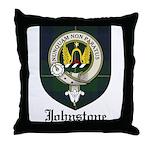 Johnstone Clan Crest Tartan Throw Pillow