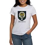 Johnstone Clan Crest Tartan Women's T-Shirt
