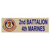 2nd Battalion 4th Marines<BR>Bumper Bumper Sticker