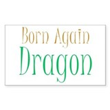 Born Again Dragon Rectangle Decal
