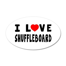 I Love Shuffleboard 35x21 Oval Wall Decal