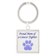 Proud Mom Paw Square Keychain