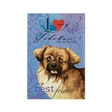 Tibetan Spaniel Rectangle Magnet