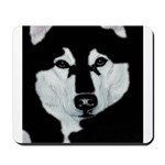 Malamute Black & White Mousepad