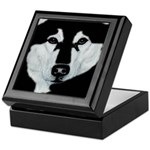 Malamute Black & White Keepsake Box