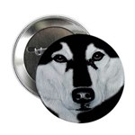 Malamute Black & White Button