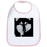 Malamute Black &amp; White Bib