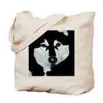 Malamute Black & White Tote Bag