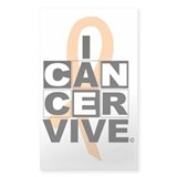 Uterine Cancer Rectangle Decal