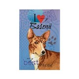 Basenji Rectangle Magnet